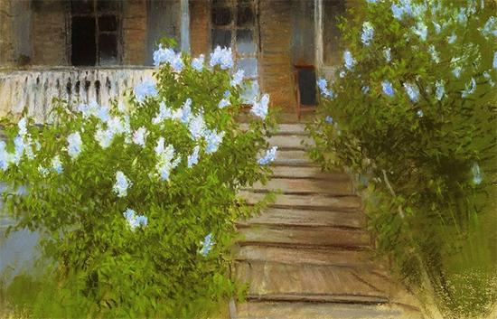 Spring White Lilacs, ca. 1895, Isaac Levitan