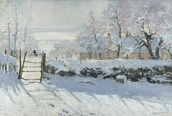 The Magpie, 1869, Claude Monet