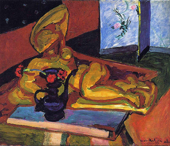 Scupture and Persian Vase by Henri Matisse