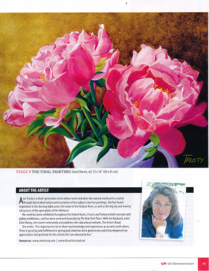 photo of peony painting by Ann Trusty. ©A. Trusty