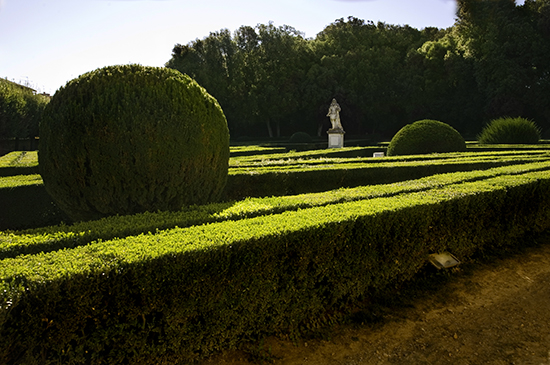 photo of Horti Leoni garden in San Quirico d'Orcia, Italy. © J. Hulsey painting workshops.