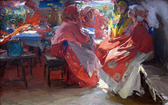 Visitors 1914 Abram Arkhipov