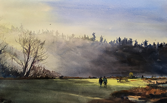 "Lisabeula Park, 30 x 22"", Watercolor, © Jeff Good"