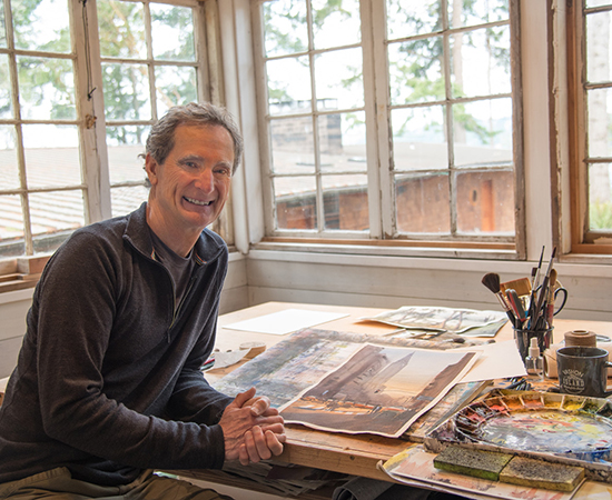 Photograph of Watercolor Artist Jeff Good