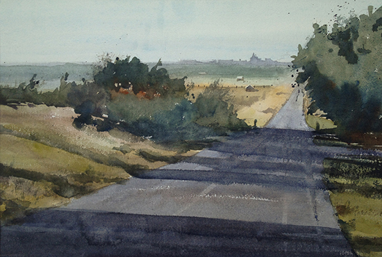 "Road to Lawrence, 15 x 22"", Watercolor, © Jeff Good"
