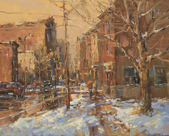 Green Street January oil © Jerry Smith