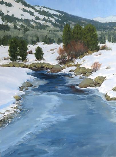 """Open Water, 40 x 30"""", Oil, © Kathleen Dunphy"""