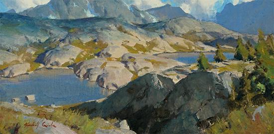 """Above Freemont, 10 x 20"""", Oil, © Kimball Geisler"""