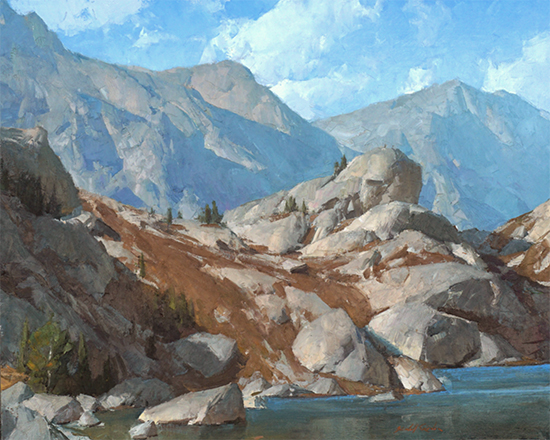 """Wind River Forms, 24 x 30"""", Oil, © Kimball Geisler"""