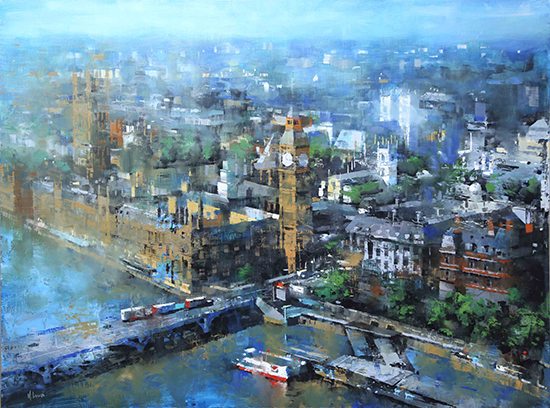 "London Blue, 30x40"", Oil, © Mark Lague"