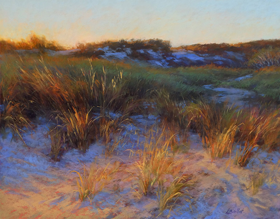 "Sunset Filigree, 14x18"", Pastel, © Lana Ballot"