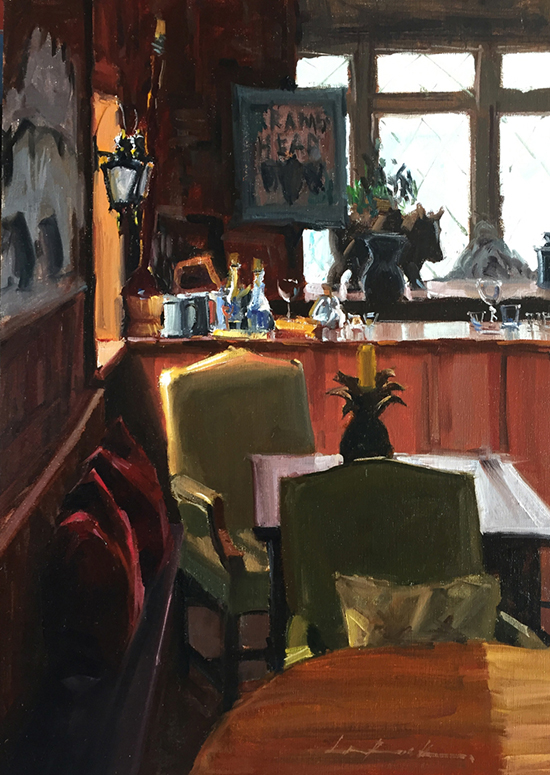 "Oil Painting - The Rams Head Pub, 20 x 16"", Oil, © Greg LaRock"
