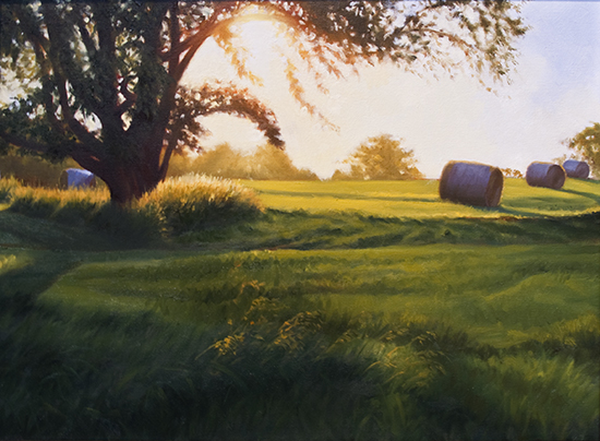 Brome Fields at Canaan Farm by John Hulsey