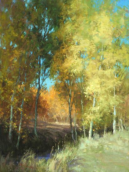 """Autumn Fairies, 24 x 18"""", Pastel, © Kim Lordier"""