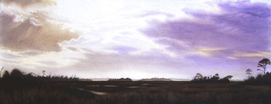 Watercolor painting of Isle of Palms by John Hulsey
