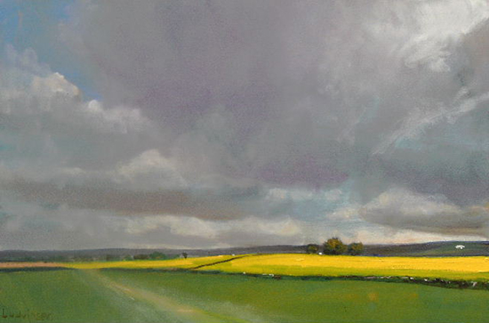 oil painting of Yorkshire countryside © Malcolm Ludvigsen