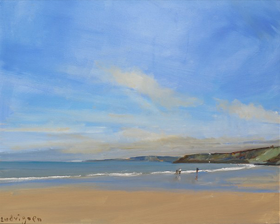 oil painting of Yorkshire beach © Malcolm Ludvigsen