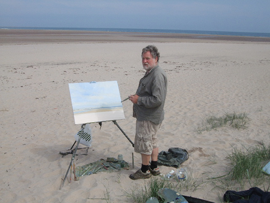 photo of Malcolm Ludvigsen on a Northumberland beach