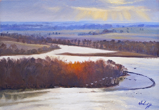 Above the Mississippi at Principia by John Hulsey