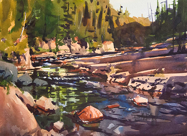 Devil's Track River, watercolor, © Dan Mondloch