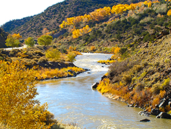 Photo Rio Grande river near Taos, N.M., by John Hulsey