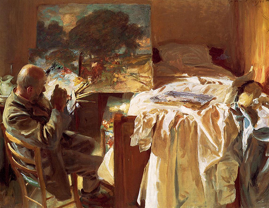 An Artist in His Studio by Sargent