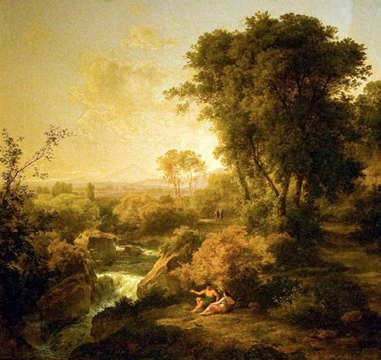 Arcadia 1830 Painting by Károly Markó