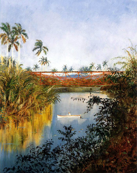 Painting by Armando Menocal