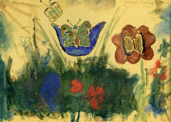 Butterly by Margit Koretz a student of Fredrika Dicker-Brandeis in the Theresienstadt concentration camp