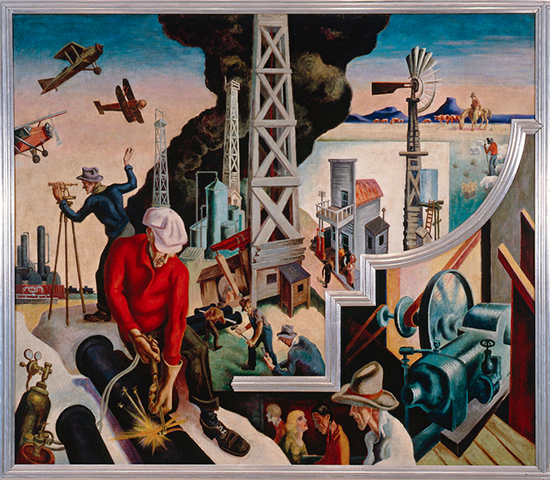 Changing West by Thomas Hart Benton