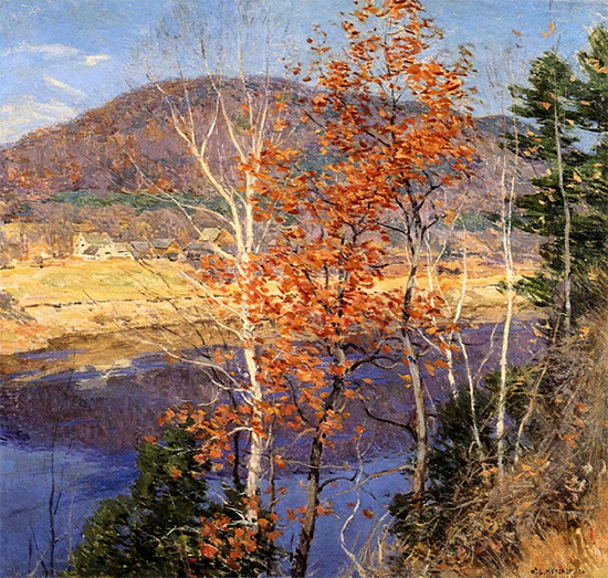 Closing Autumn, 1924, Willard Metcalf