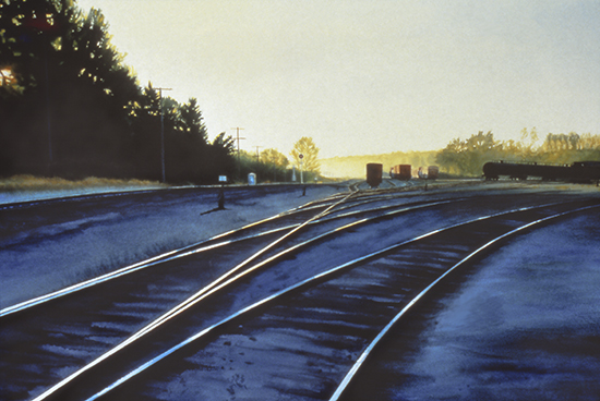 Dawn in the Switching Yard by John Hulsey
