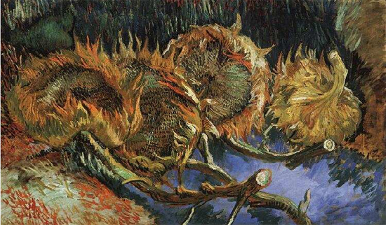 Four Withered Sunflowers, Vincent van Gogh