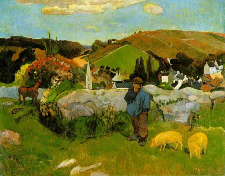 The Swineherd, Brittany by Gauguin