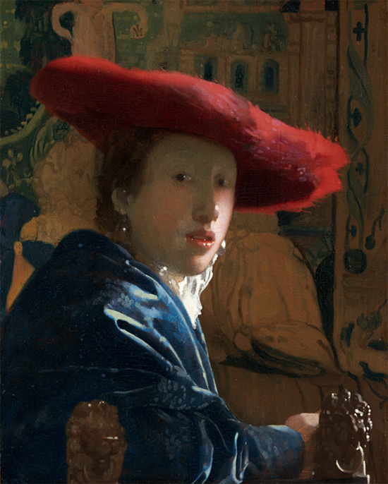 Girl with the Red Hat, ca. 1665-67, Johannes Vermeer