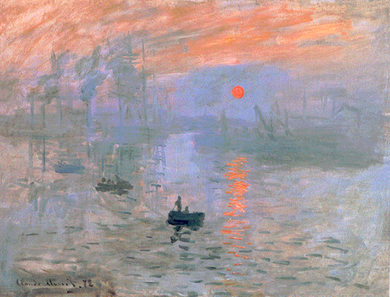 Landscape with Sunrise by Claude Monet