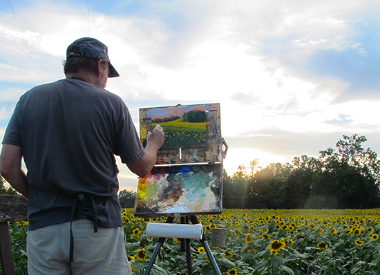 John Painting Sunflowers