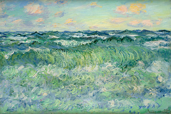Marine, Pourville, 1881, Claude Monet