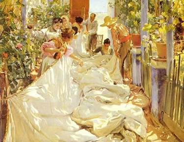 Mending the Sails by Sorolla