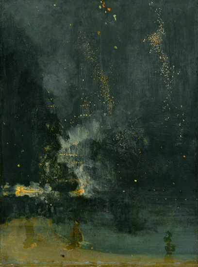 Nocturne in Black and Gold, The Falling Rocket, 1875, J.A.M. Whistler