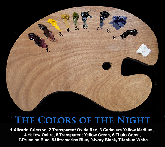 The Colors of the Night Palette
