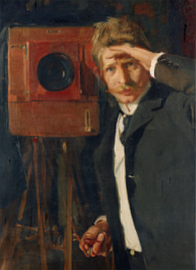 oil painting of photographer Christian Franzen, by Joaquin Sorolla, 1901