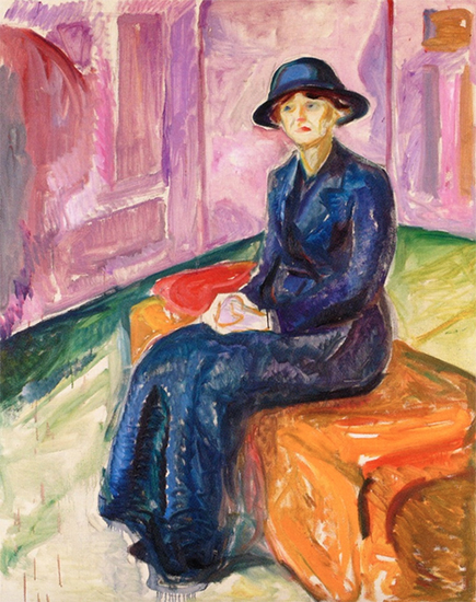 Seated on a Suitcase, 1913-1915, Edvard Munch