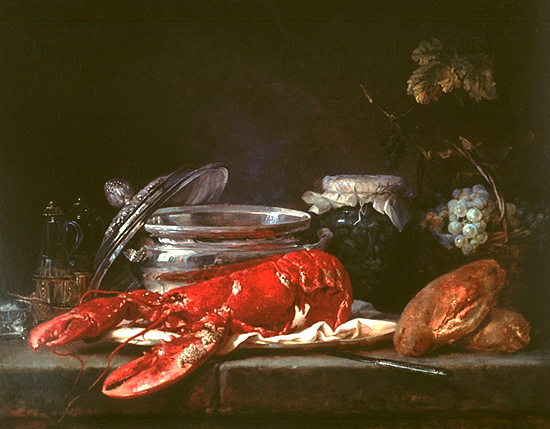 Still Life with Lobster by Anne Vallayer-Coster