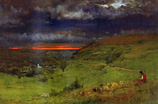 Sunset at Etretat by George Inness