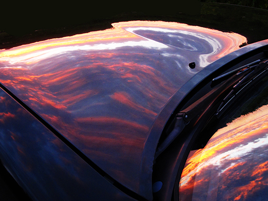 Sunset Reflection on Miata photo