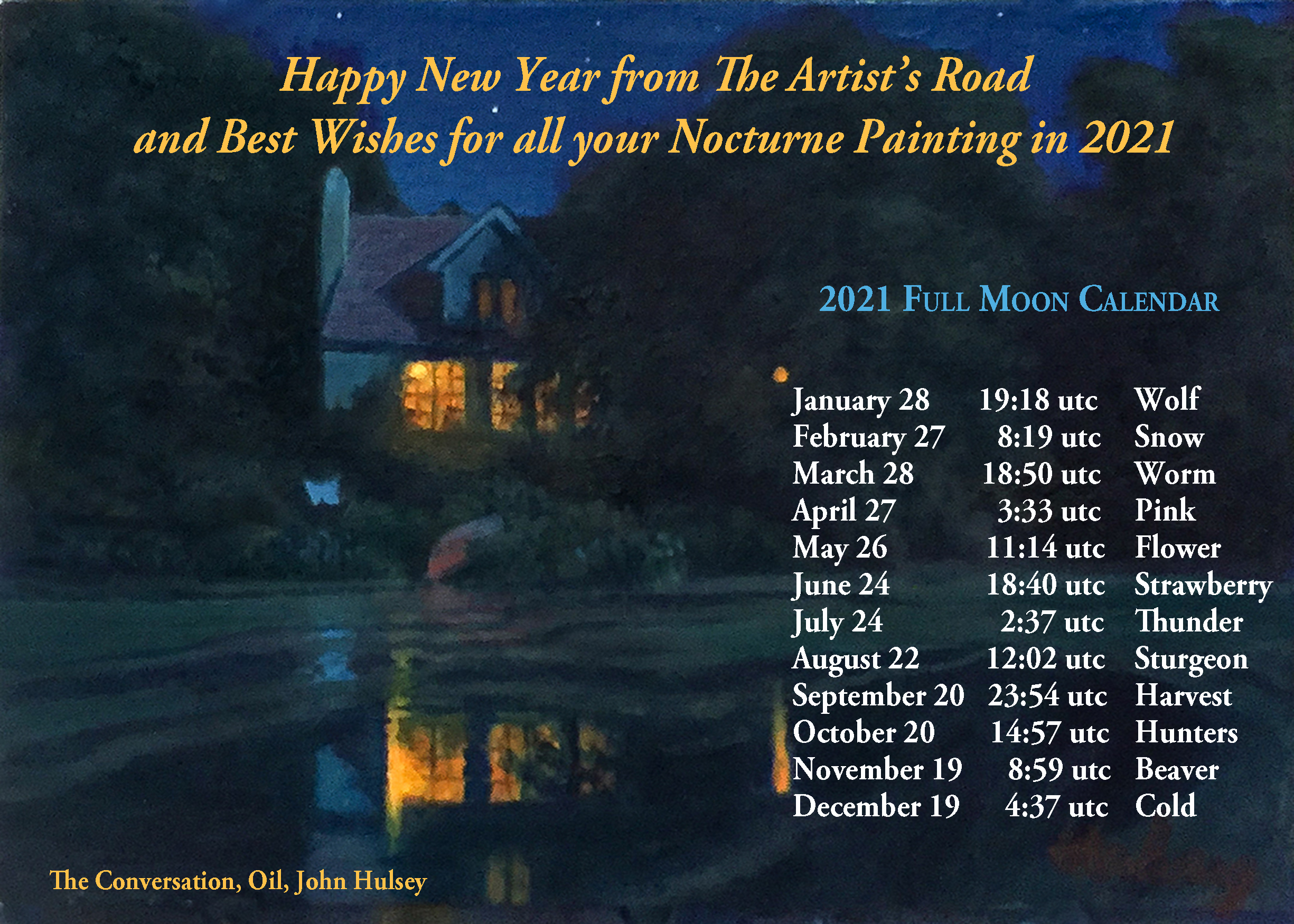 TAR 2020 New Year Full Moon Calendar