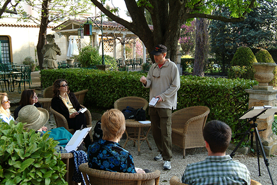 Photo of John Hulsey Teaching in Aix France