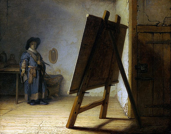 The Artist in his Studio by Rembrandt