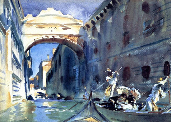 The Bridge of Sighs, ca. 1905-08, John Singer Sargent